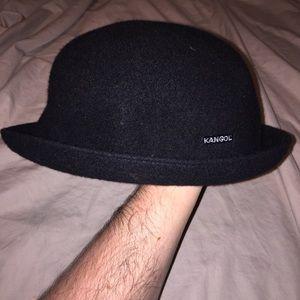 Black vintage Kangol wool bombin bucket hat